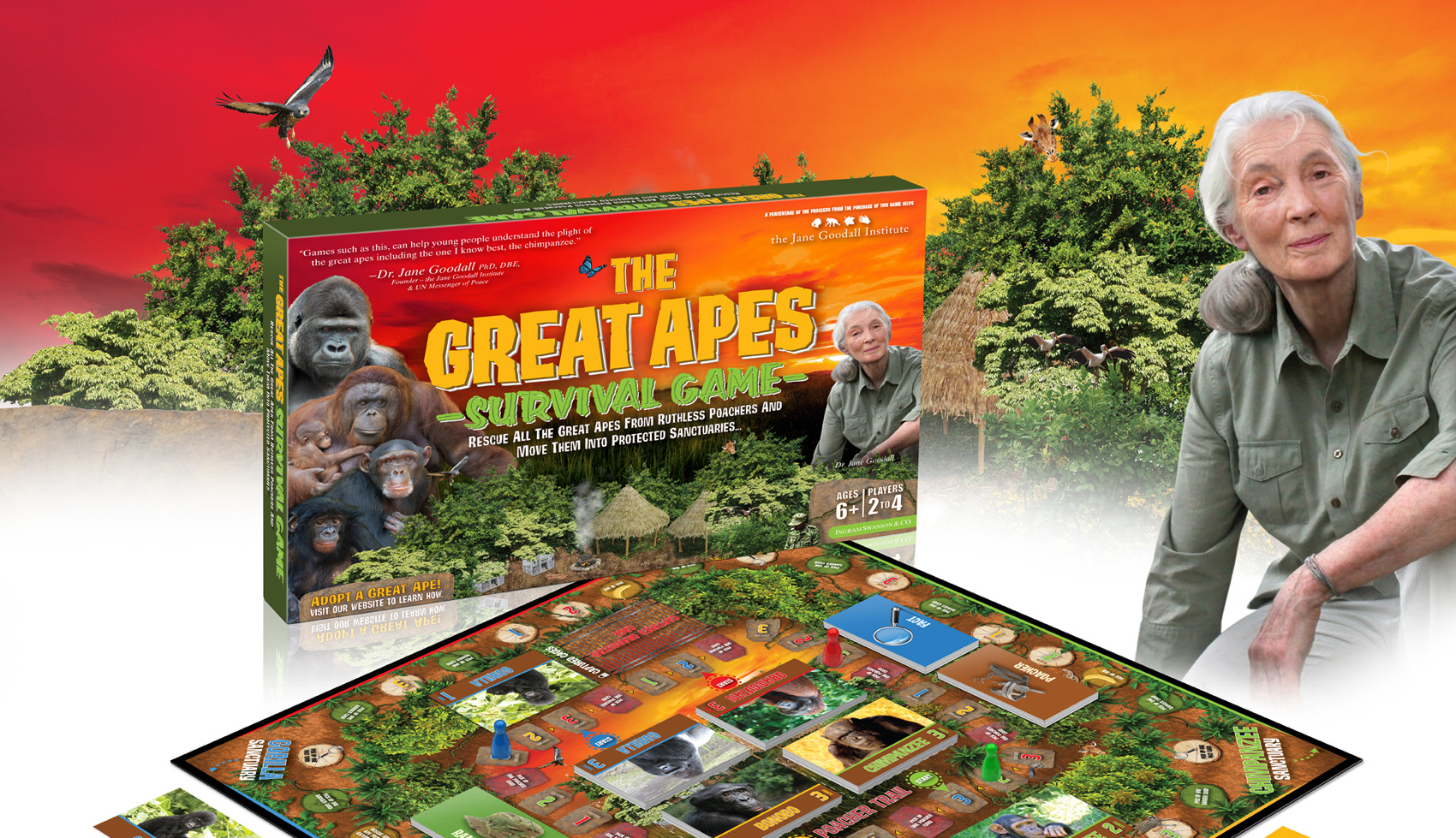 The Great Apes Survival Game featuring Dr. Jane Goodall from the Jane Goodall Institute.
