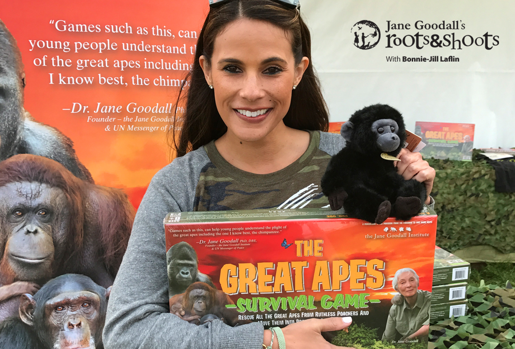 Photo of Bonnie-Jill Laflin and the Great Apes Survival Game
