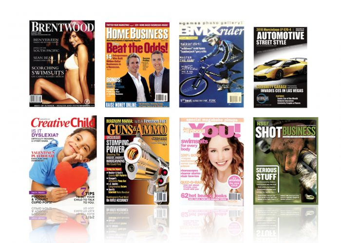 This is an image of 8 magazines that we designed | Publishing Design