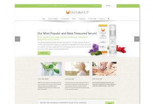 Website design development solution for skincare company